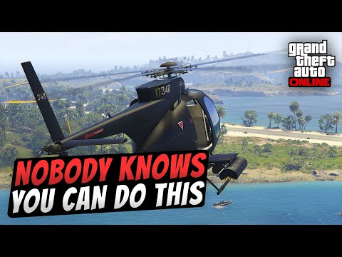 Nobody knows you can do this! I used my Buzzard in Cayo Perico Island... How is this possible?