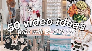 50 VIRAL VIDEO IDEAS FOR YOUTUBE! That Will Make Your Channel Grow in 2020!