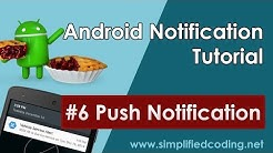 #6 Android Notification Tutorial - Push Notification
