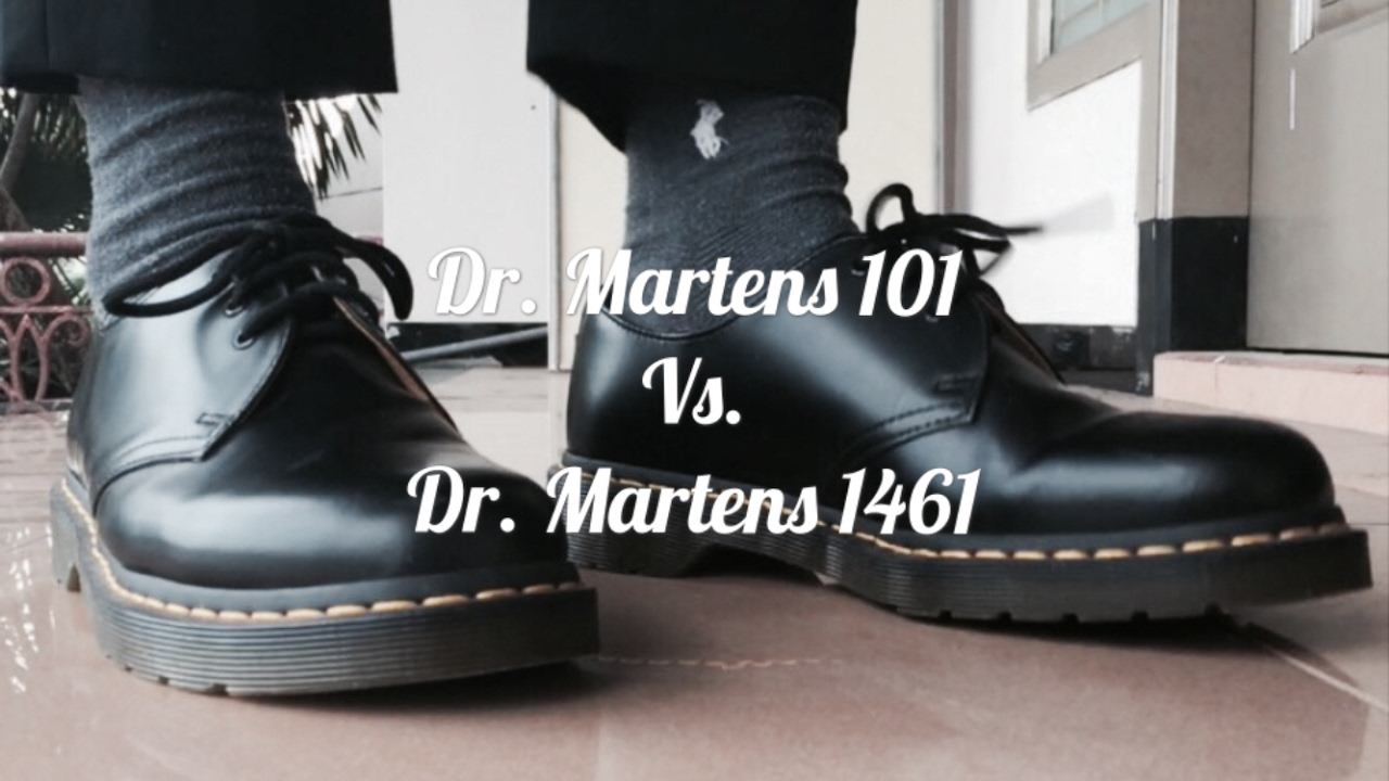 6a6fba52d3 Dr. Martens 101 Boots VS Dr. Martens 1461 On Feet - YouTube