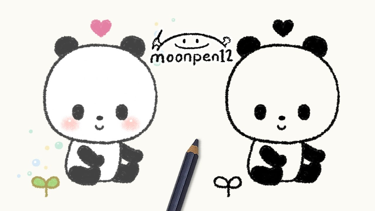 how to draw a panda popsicle