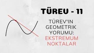 Türev - 11 (Türev'in Geometrik Yorumu - Ekstremum Noktalar)