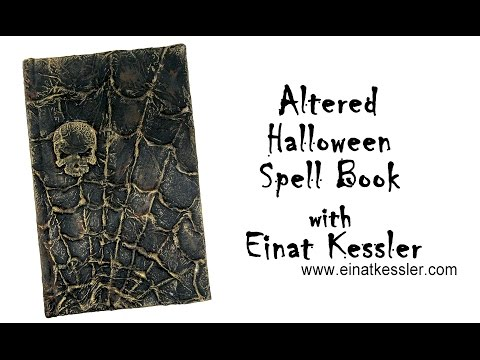 Altered Halloween Spell Book