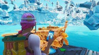 *NEW* UNDER MAP GLITCH Fortnite Season 8! (Frosty Flights PS4/Xbox One/PC)