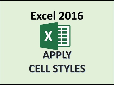 Excel 2016 - Cell Style - How To Apply Styles - Format Cells Input & Heading In Microsoft MS Office