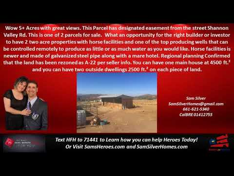 Acton Land Prices - Call, Text Sam Silver HomeSmart NCG 661-621-5340