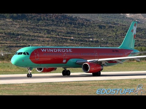 Windrose Aviation - Airbus A321-231  UR-WRI - Takeoff from SPU/LDSP Split airport