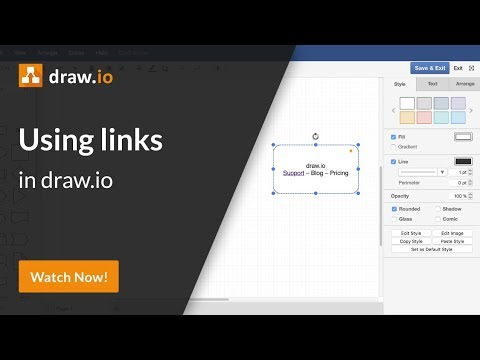How To Add Links To Shapes And Text - Draw.io Diagrams For Confluence