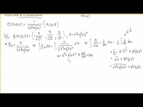 Intro to Conservative Vector Fields, Fall 2016