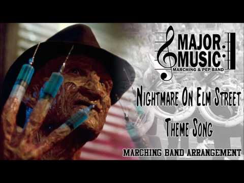 Nightmare On Elm Street Theme Song MarchingPep Band Sheet Music Arrangement
