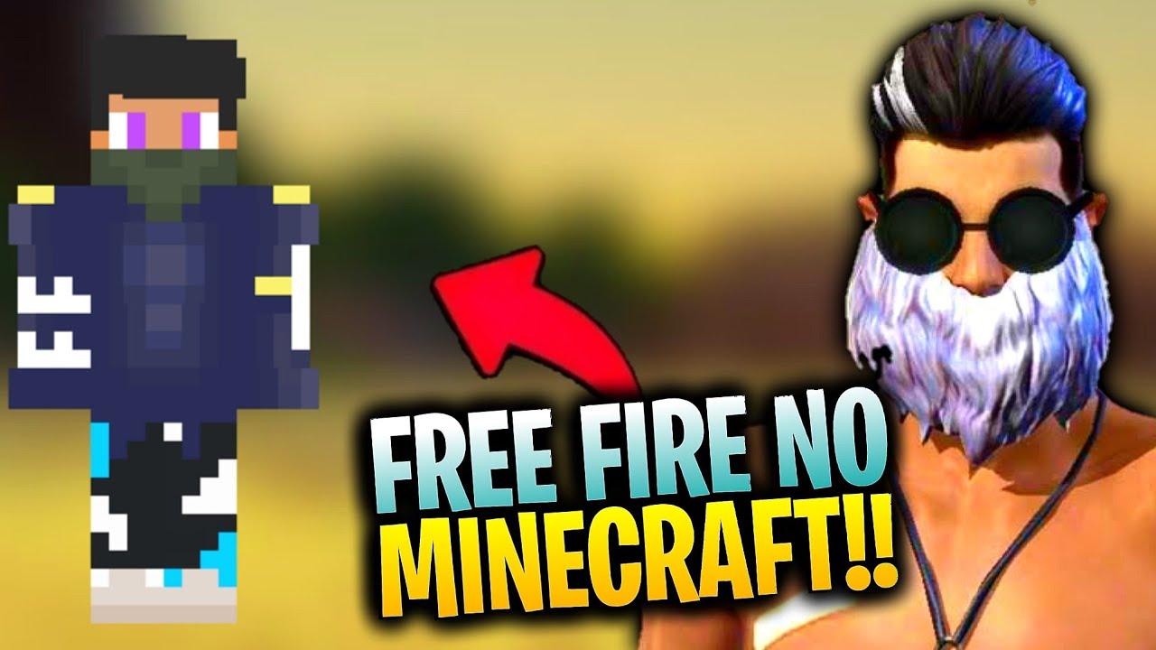 SKIN DO FREE FIRE NO MINECRAFT + DOWNLOAD - YouTube