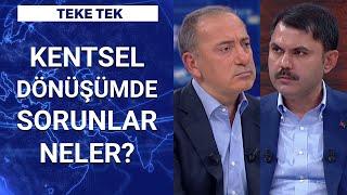 Çevre ve Şehircilik Bakanı Murat Kurum Habertürk'te  Teke Tek - 14 Kasım 2020