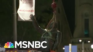 Controversial Philadelphia Statue Removed After George Floyd Protests | Andrea Mitchell | MSNBC