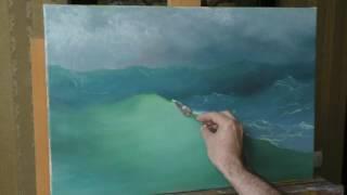 Юрий Клапоух   Уроки живописи для начинающих   Волна. Часть 2. Учимся у Айвазовского