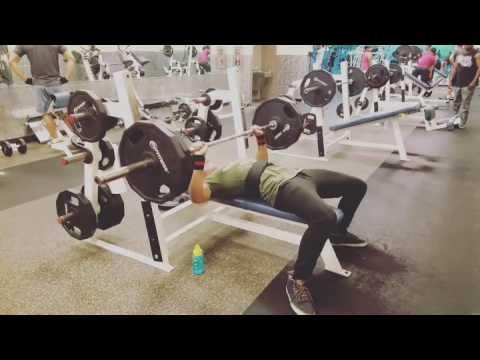 Bench Press 225 LBS x 3 REPS
