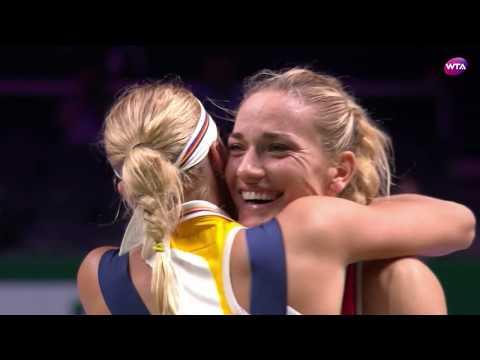 2017 WTA Finals Doubles Final | Babos/Hlavackova vs. Bertens/Larsson | WTA Highlights