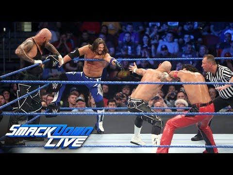 AJ Styles & Gallows & Anderson vs Shinsuke Nakamura & Rusev Day: SmackDown , April 24, 2018
