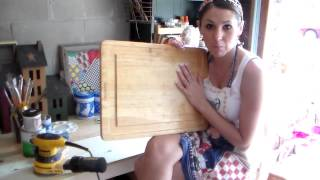 Diy Repurposing A  Cutting Board Into A Children's Activity Board - Part One