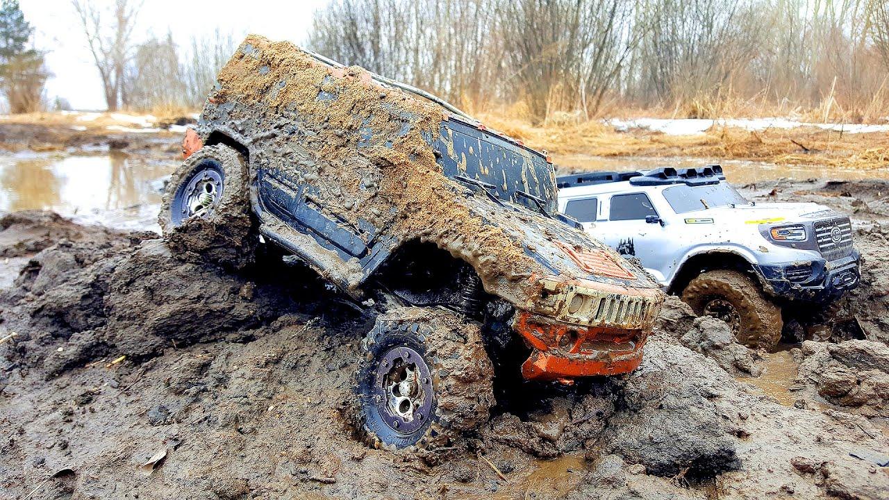 Радиоуправляемые машины в грязи 4х4 часть 2 | смотреть видео гонки спортивные машины