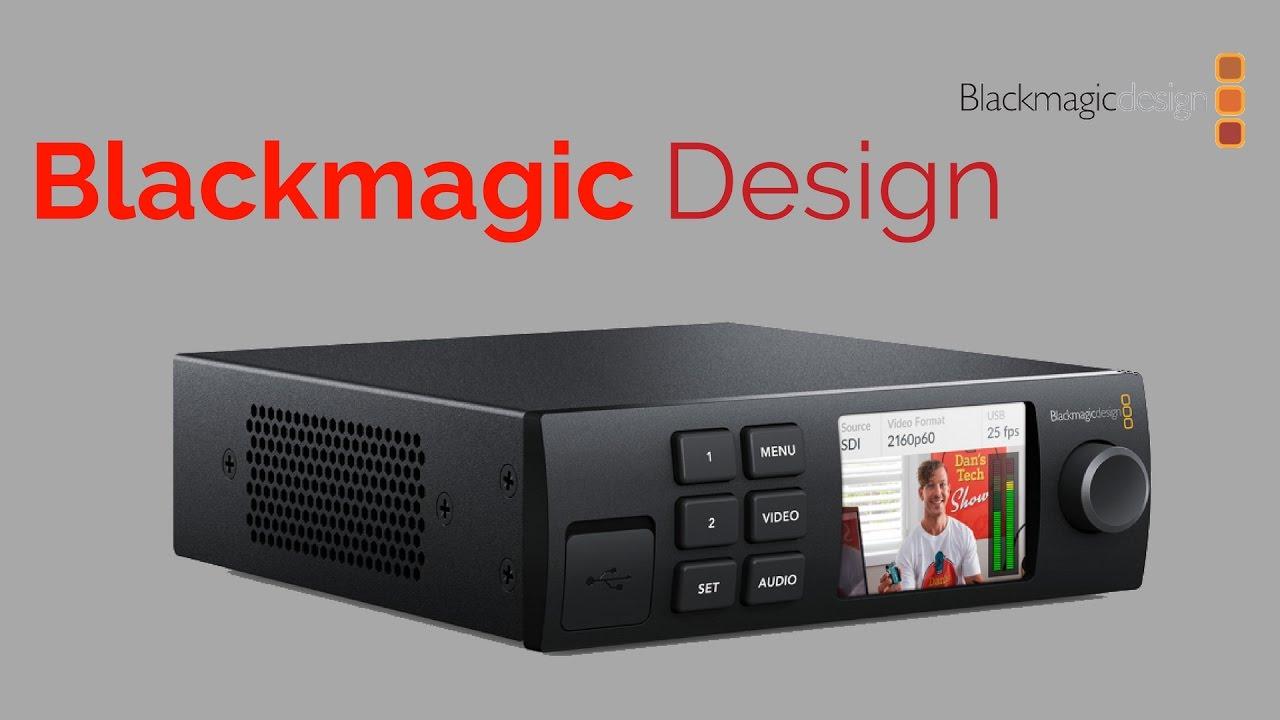 Blackmagic Web Presenter Interface De Streaming Video 720p