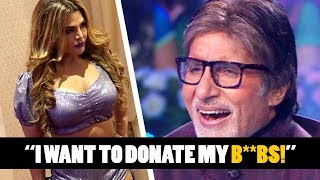Rakhi Sawant To Donate Her B00BS & Amitabh Can't Stop Laughing! Rakhi Sawant Funny Ft Amitabh