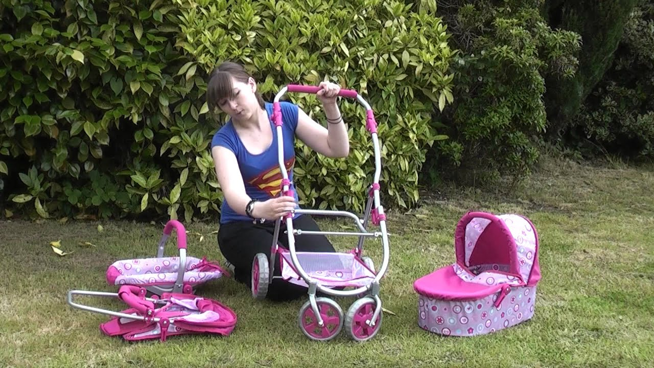 Roxy Roller 3 In 1 Dolls Toy Pram Combination Pushchair