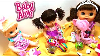 Bright Starts Baby Toys Unboxing for our Baby Alive Dolls