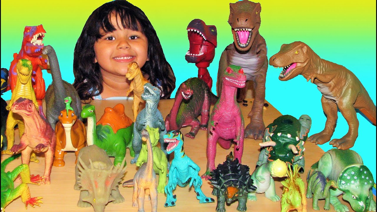 30 Dinosaurs My Entire Collection of Dinosaur Toys T Rex Fight For