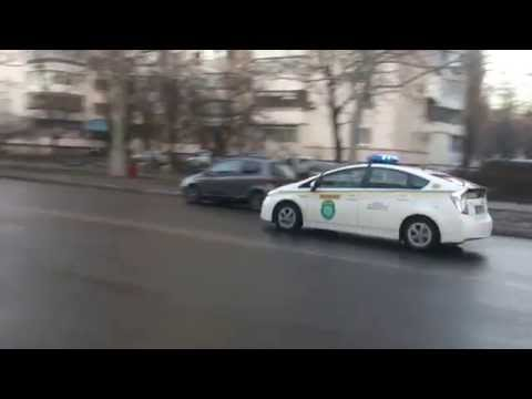 Police Car Toyota Prius with blue light,Odessa