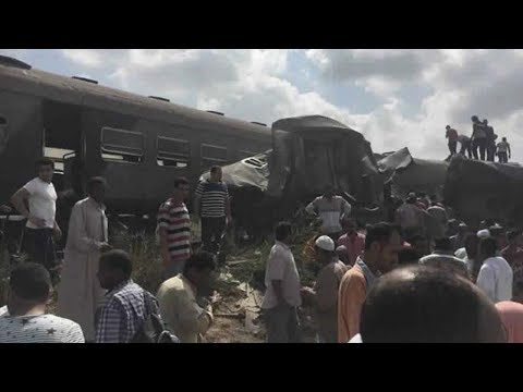 At least 20 killed after two trains collide in Egypt's Alexandria