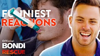 FUNNIEST Reactions to the Green Whistle (Analgesic Gas) on Bondi Rescue