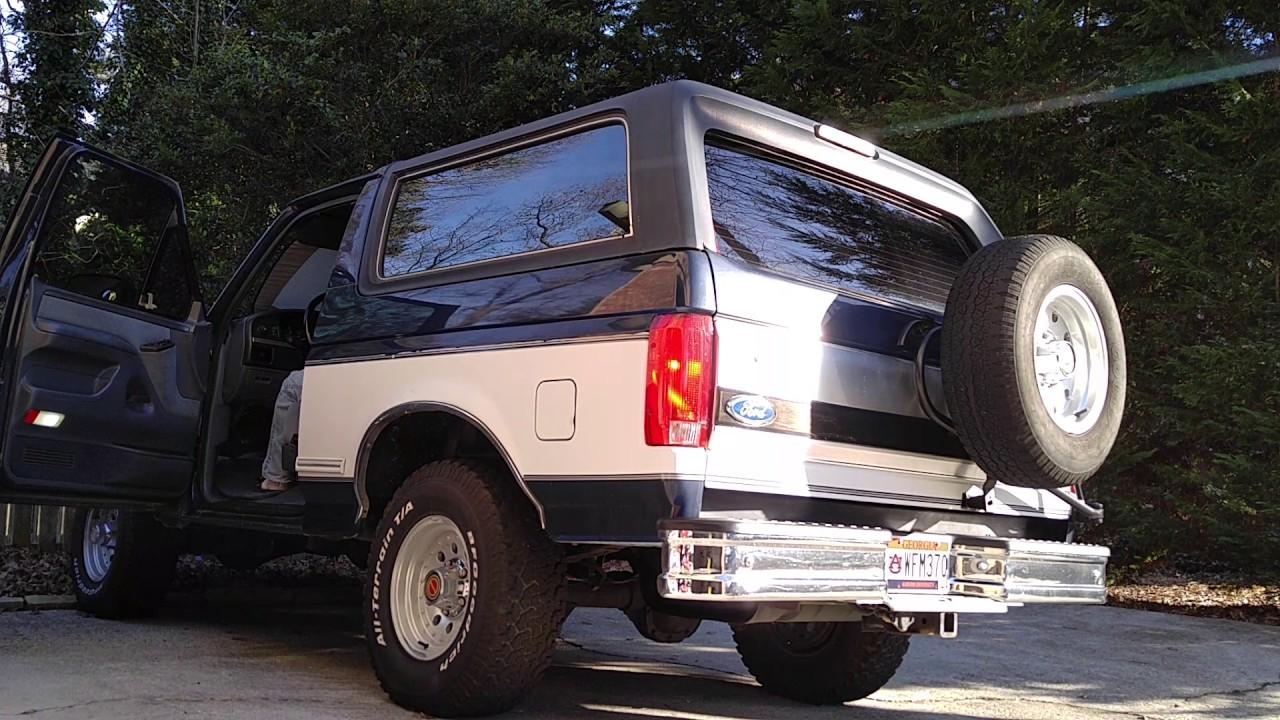 1993 ford bronco 5 8l cold start catalytic converter dump only no muffler [ 1280 x 720 Pixel ]