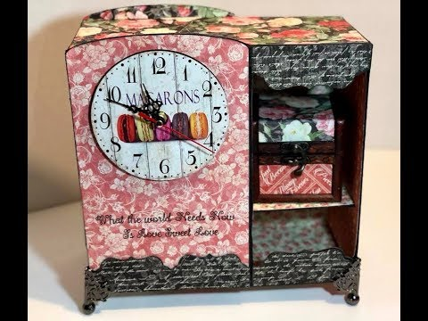 Cricut clock 'Adored' with Graphic 35 Mon Amour