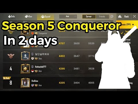 Season 5 Conqueror In 2 Days | PUBG Mobile Gameplay By Biu