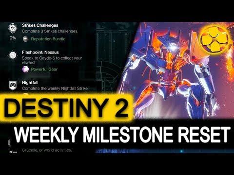 Destiny 2   Weekly Milestone Reset   September 12, 2017   Unlock New Powerful Gear