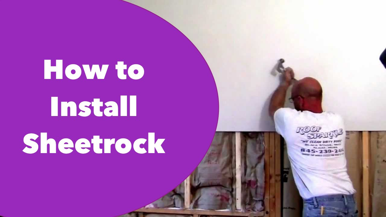 How To Hang Drywall On Walls Youtube