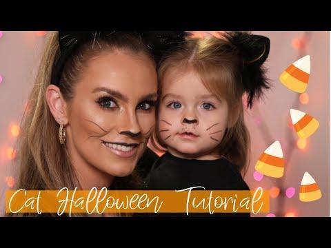 Halloween Cat Makeup Tutorial | Mommy & Me Last Minute Costume Idea