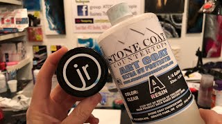 Stonecoat countertop ART COAT resin and Just Resin epoxy paints ~ add glitter or no???