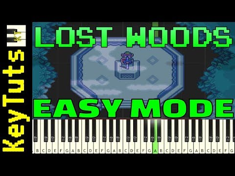 Learn to Play Lost Woods from Legend of Zelda - Easy Mode