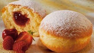Приготовление пончиков с начинкой