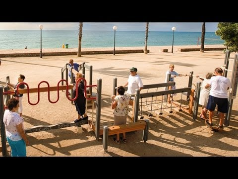The World: Spain's senior citizens play at the playground