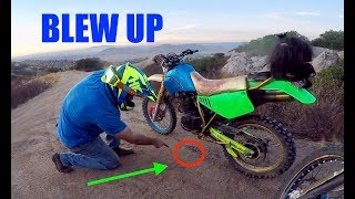HE BLEW HIS NEW BIKE UP!!