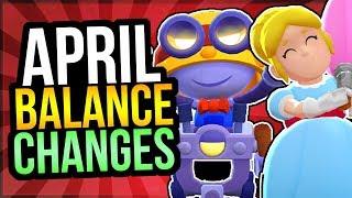 HUGE APRIL BALANCE CHANGES - Crow Buff, Pam Nerf, u0026 More! (Brawl Stars)