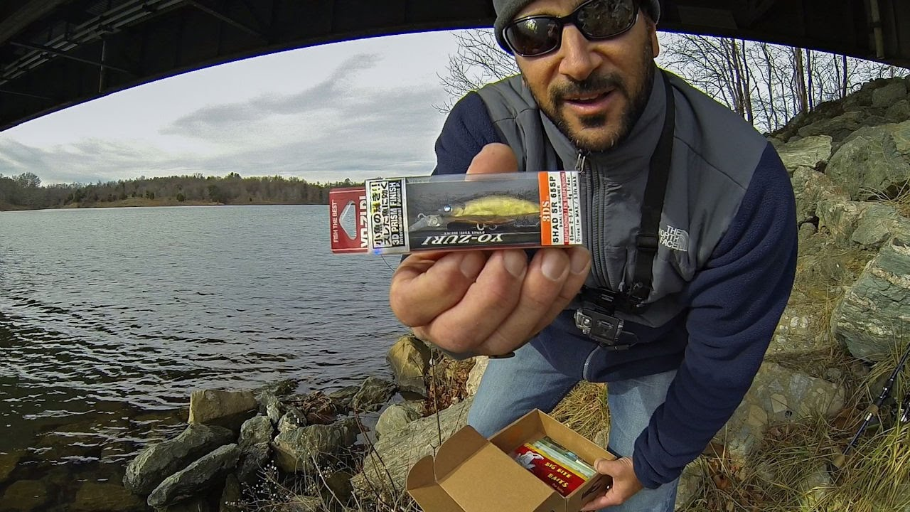 December mtb unboxing rigging fishing from shore for Bass fishing from shore