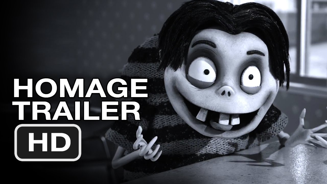 Frankenweenie Homage Trailer 2012 Tim Burton Animated Movie Hd Youtube