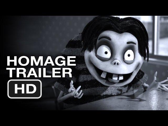 Frankenweenie Homage Trailer (2012) Tim Burton Animated Movie HD