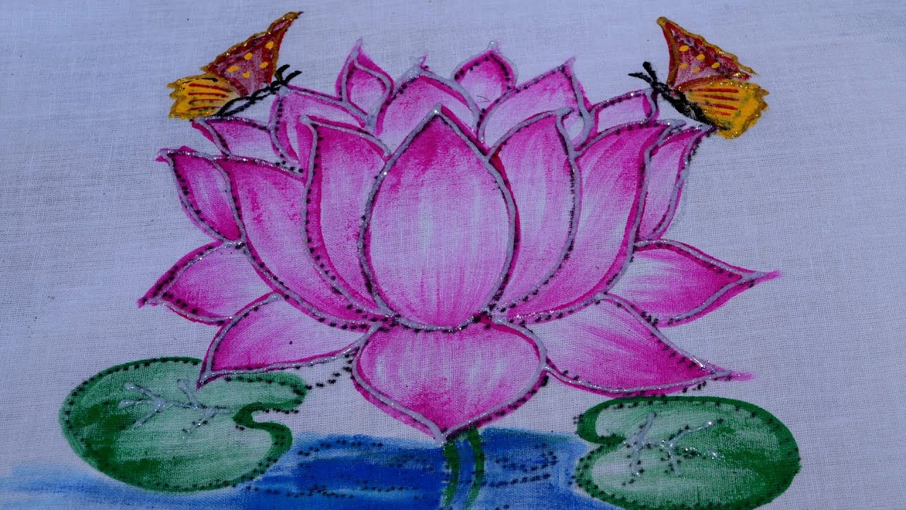 Fabric Painting Up And Down Shade Lotus Youtube