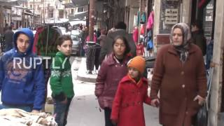 В СИРИИ НЕТ ВОЙНЫ - Рынки Алеппо, 14.01.2017 (عودة الحياة الى اسواق حلب)