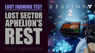 DESTINY 2 - Solo Loot Farm Test #1 - Aphelion's Rest (The Strand)