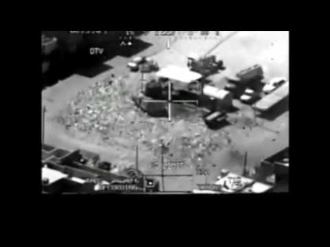 Apache Helicopter attack flir night vision drone like footage
